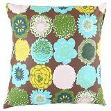 EOLINS Bantal Sofa Motif Bunga Diandra [JSPS017] - Brown - Bantal Dekorasi